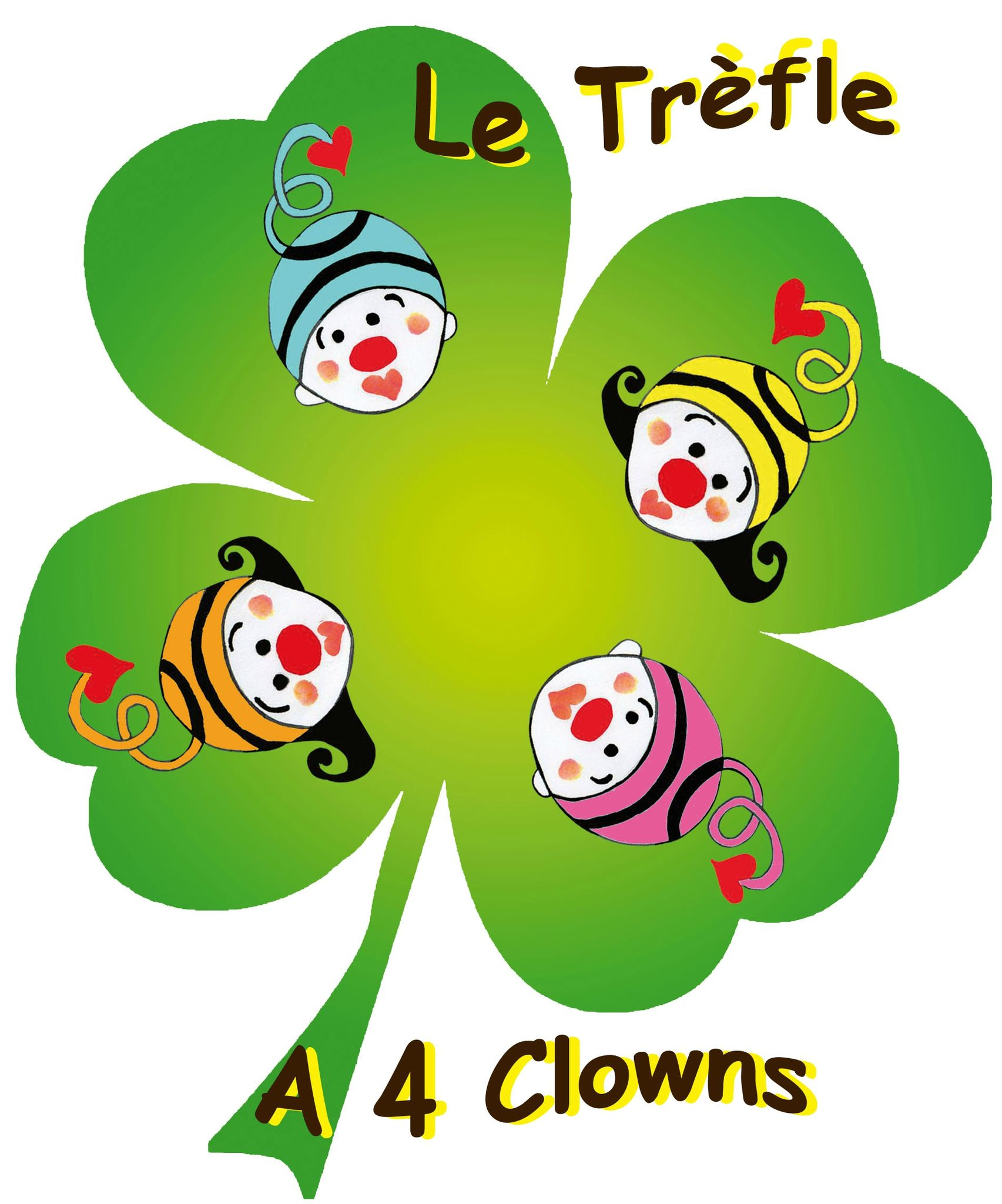 Logo association Le trèfle à 4 clowns