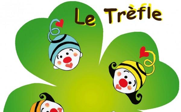 Logo association Le trèfle à 4 clowns